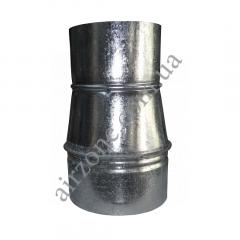 Переход (редуктор) Ø110/130 из оцинкованной стали