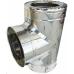 Трійник сендвіч 120/180 мм нержавійка в нержавійці з відводом 87⁰ / сталь 0,5мм /