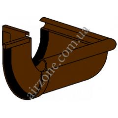 Угол наружный 90° желоба 130мм, коричневый