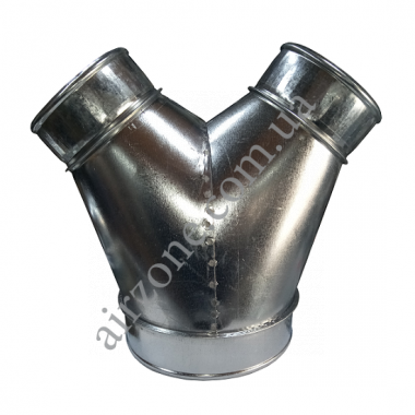 Трійник У-подібний (штани) з оцинкованої сталі Ø150-100-100