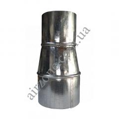 Перехід (редуктор) Ø80/100 з оцинкованої сталі