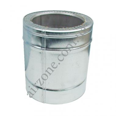 Труба сендвіч (утеплена) нержавійка в оцинковці Ø120/180мм  / 0,25метра / сталь 0,5мм
