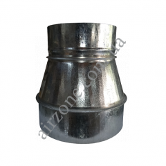 Переход (редуктор) Ø150/160 из оцинкованной стали