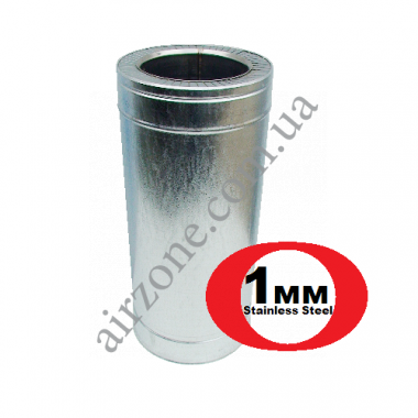Труба сендвіч (утеплена) нержавійка в оцинковці Ø180/250мм  / 0,5 метра / сталь 1мм