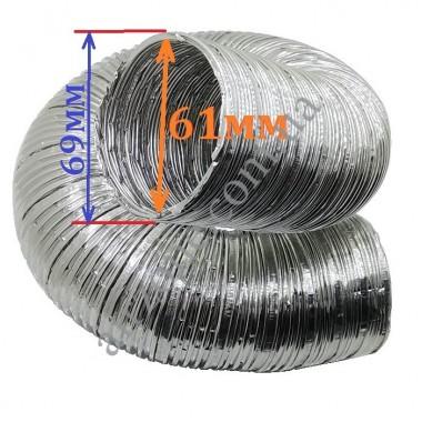 Гофра алюміній Ø60мм (довжина до 2,6м)