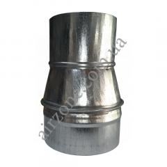 Переход (редуктор) Ø100/125 из оцинкованной стали