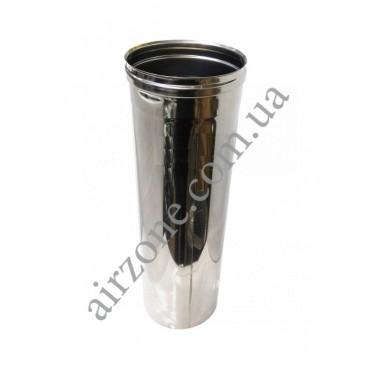 Труба з нержавіючої сталі Ø130мм / 0,5 метра / товщина 0,5мм