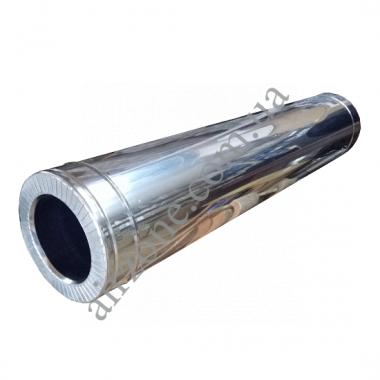 Труба сендвіч (утеплена) нержавійка в нержавійці 120/180мм  / 1 метр / сталь 0,5мм