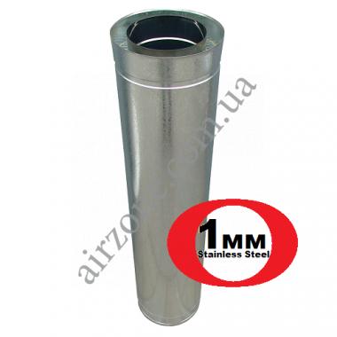 Труба сендвіч (утеплена) нержавійка в оцинковці Ø150/220мм  / 1 метр / сталь 1мм