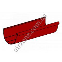 Желоб водосточный 90мм, красный, длинна 3м