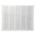 Металева решітка Вентс МВМП 500х400 біла