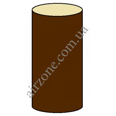 Труба водостічна 100мм, коричнева, довжина 3м