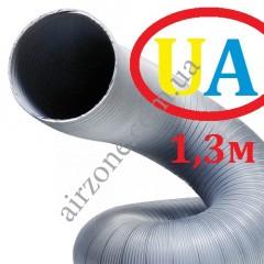 Гофра стальна оцинкована Ø125мм (довжина до 1,3м)
