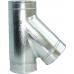 Трійник сендвіч 130/200 мм нержавійка в оцинковці з відводом 45⁰ / сталь 0,5мм /