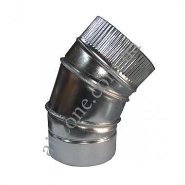 Коліно (відведення) 45° Ø80 з оцинкованої сталі