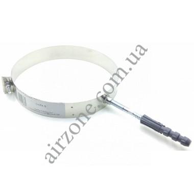 Хомут-скоба 160мм нержавійка + шпилька М10×120мм з дюбелем 12×80мм