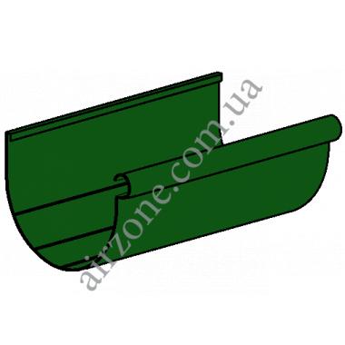 Ринва водостічна 130мм, зелена, довжина 3м