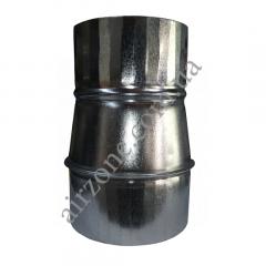 Переход (редуктор) Ø110/125 из оцинкованной стали