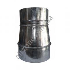 Переход (редуктор) Ø130/150 из оцинкованной стали