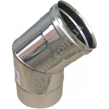 Відвід з нержавіючої сталі 160мм - 45⁰ (сталь 0,5мм)