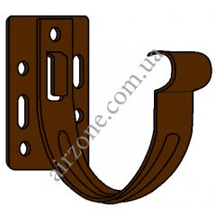 Кронштейн желоба 130мм, металл, коричневый