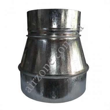 Перехід (редуктор) з Ø150 (-) в Ø200 (+) з оцинкованої сталі