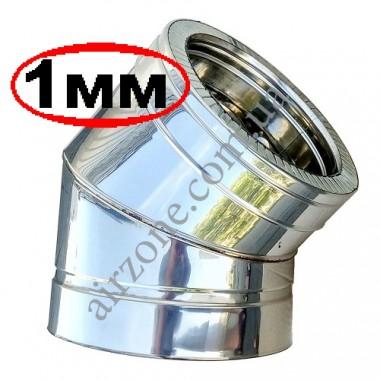 Відвід (коліно) сендвіч 180/250мм 45⁰ нержавійка в нержавійці / сталь 1мм /