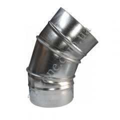 Коліно 45° Ø250 з оцинкованої сталі