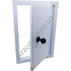 Дверцята ревізійні металеві 20х30 з замком