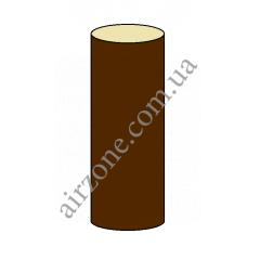 Труба водосточная 75мм, коричневая, длинна 3м
