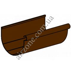 Желоб водосточный 130мм, коричневый, длинна 3м
