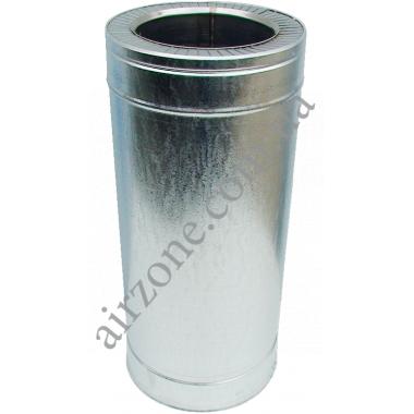 Труба сендвіч (утеплена) нержавійка в оцинковці Ø110/180мм  / 0,5метра / сталь 0,5мм