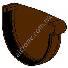 Заглушка желоба 130мм, правая, коричневая
