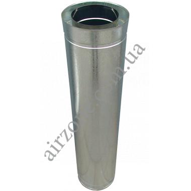 Труба сендвіч (утеплена) нержавійка в оцинковці Ø100/160мм  / 1метр / сталь 0,5мм