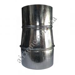 Переход (редуктор) Ø110/120 из оцинкованной стали
