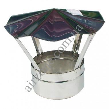 Гриб 200мм (зонт, флюгарка) з нержавіючої сталі