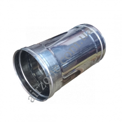 Труба з нержавіючої сталі 110мм 0,3м +/+