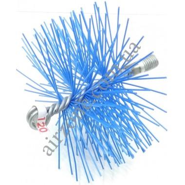 Щітка для чистки труб діаметр 120мм (під М12)