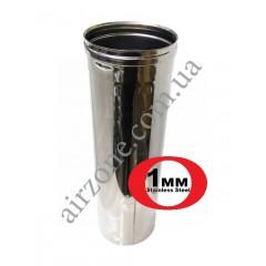 Труба з нержавіючої сталі Ø160мм 0,5м 1мм