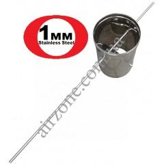 Регулятор тяги димаря 180мм нерж 1мм (виконання 2)