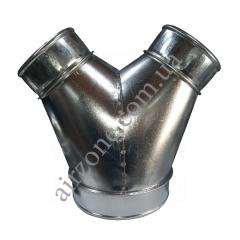Трійник У-подібний з оцинкованої сталі Ø150-100-100