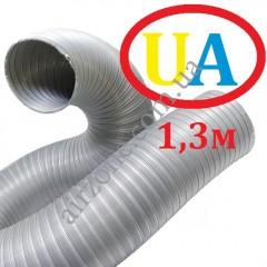 Гофра стальна оцинкована Ø110мм (довжина до 1,3м)
