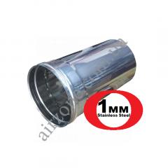 Труба з нержавіючої сталі Ø120мм 0,3м 1мм