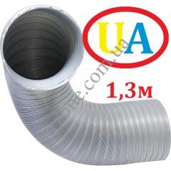 Гофра стальна оцинкована Ø130мм (довжина до 1,3м)