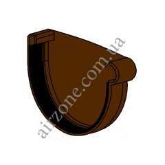 Заглушка желоба 90мм, правая, коричневая