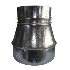 Переход (редуктор) Ø150/200 из оцинкованной стали