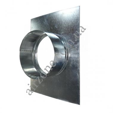 Фланець вентиляційний 18х24 Ø100 з оцинкованої сталі