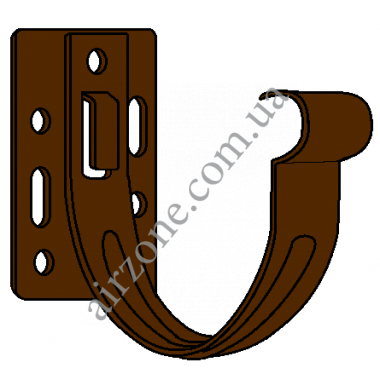 Кронштейн ринви 130мм, коричневий, металевий