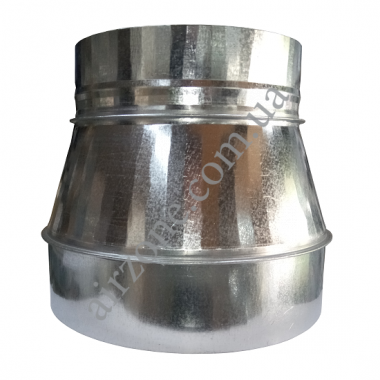 Перехід (редуктор) з Ø200 (-) в Ø250 (+) з оцинкованої сталі
