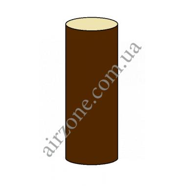 Труба водостічна 75мм, коричнева, довжина 3м